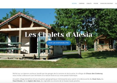 Page d'accueil Chalets Alesia